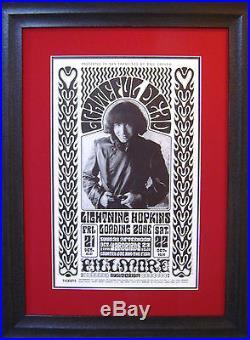 Grateful Dead Jerry Garcia BG-32 First Print Poster Wilson/Greene 1966 MINTY