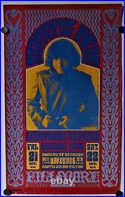 Grateful Dead Jerry Garcia Concert Poster Wes Wilson Fillmore 1966/1986 San Fran
