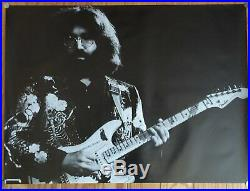 Grateful Dead Jerry Garcia Play Guitar Black & White 1970s Poster 27 x 39