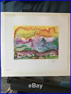 Grateful Dead Jerry Garcia Watercolor Feeding In The Light Poster Litho