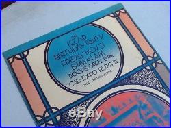 Grateful Dead KZAP Birthday Party POSTER November 21, 1969 Cal Expo Building A