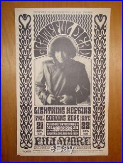 Grateful Dead/Lightnin Hopkins- BG032 1966 POSTER
