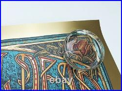 Grateful Dead Luke Martin Signed #/100 Gold Foil Art Print Poster Jerry Garcia