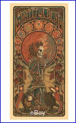 Grateful Dead, Luke Martin Suburban Avenger Signed Numbered Poster Dancing Bears