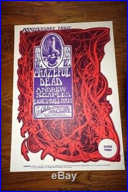 Grateful Dead Mouse/Kelley Cheese Factory 1966 AOR 2.185 Poster