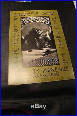 Grateful Dead NRPS Fillmore West BG237 6/4/1970 1st Pressing Poster EX