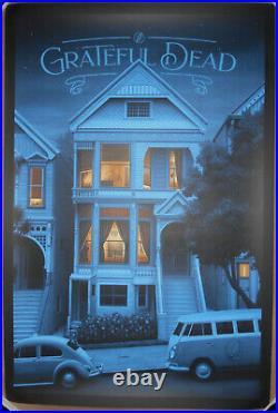 Grateful Dead Nicholas Moegly 710 Ashbury Screen Print Poster Jerry Garcia #/225