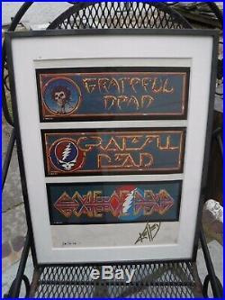 Grateful Dead-ONE OF A KIND Alton Kelley SIGNED & FRAMED UNUSED LOGO CONCEPT