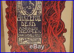 Grateful Dead Old Cheese Factory Mouse Bill Graham Fillmore Fd Dog Era Poster