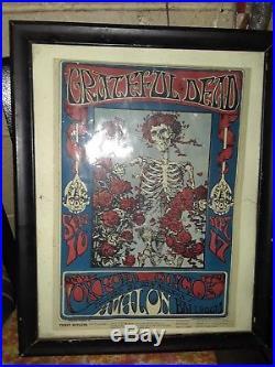 Grateful Dead Original 1966 Ticket Promotion Poster