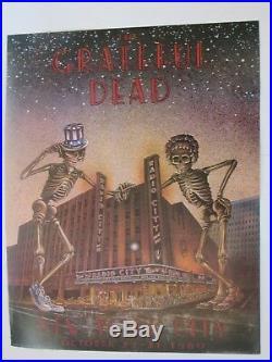 Grateful Dead Original 1980 Radio City Oct 22-31 Poster Board Stock 27.25X21.50