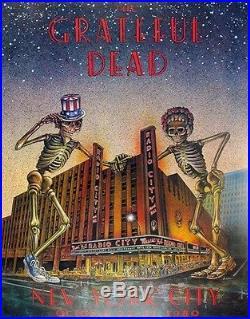 Grateful Dead Original Concert Poster Radio City Music Hall Lithograph Vintage