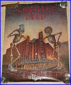 Grateful Dead Original Poster New York Radio City October 22-31 1980 Card Stock