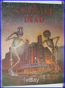 Grateful Dead Original Poster Radio City October 22-31 1980 on Board Stock LOOK