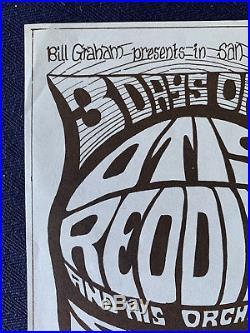Grateful Dead Otis Redding Fillmore Concert Handbill 1966 BG 43 Alternative Vers