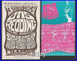Grateful Dead Otis Redding Fillmore Concert Handbill SET 1966 BG 43