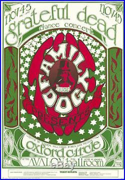 Grateful Dead Oxford Circle 1966 FD 33 LOGO Family Dog Avalon Poster