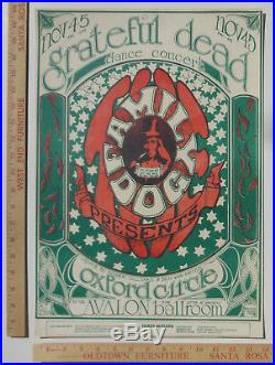 Grateful Dead Oxford Circle Family Dog FD33 Concert Poster San Francisco 1966