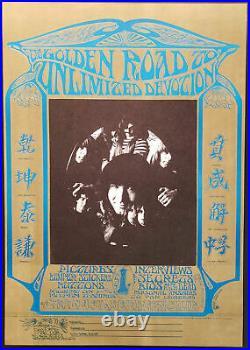 Grateful Dead Poster 1967 Fan Club 2nd Printing