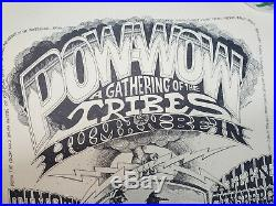 Grateful Dead Poster 1967 Pow-wow Gathering Of Tribes Human Be-in Rick Griffin