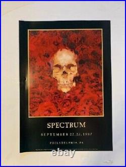 Grateful Dead Poster 1987 Hugh Brown Spectrum Philadelphia