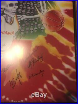 Grateful Dead Poster 1992 Lithuania Basketball Greg Speirs Autographed Olympic