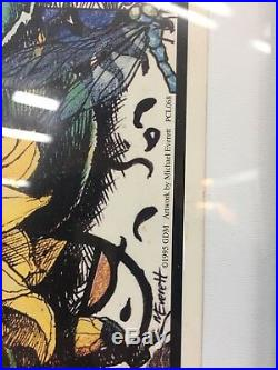 Grateful Dead Poster 1995 Fall Tour Poster. No. 6644/25000. Framed