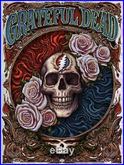 Grateful Dead Poster 2018 by NC Winters Wave Foil Lava Variant x/150 Company