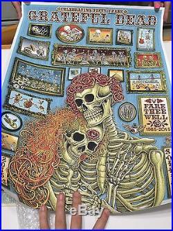 Grateful Dead Poster Chicago Soldier Field Rare