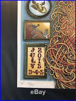 Grateful Dead Poster Emek Artist Edition Of 150 S/N Mint On Pearl Paper