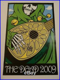 Grateful Dead Poster FULLY AUTOGRAPHED Bob Weir Phil Lesh Kreutzmann Hart & more