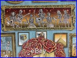 Grateful Dead Poster GD50 Soldier Field Chicago Artist Emek Pearl Paper doodled