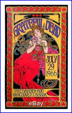 Grateful Dead Poster July 1966 Record Store Day Edition AP Signed by Bob Masse