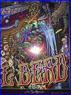 Grateful Dead Poster Mike DuBois Fare Thee Well FTW Foil Hologram Golden Road 50