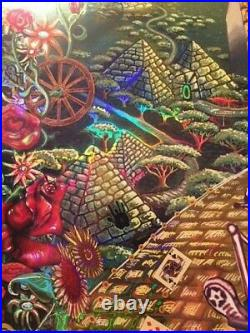 Grateful Dead Poster Mike DuBois Fare Thee Well Foil Hologram Art Golden Road 50