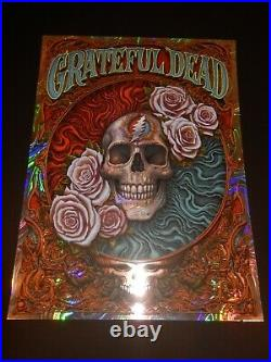 Grateful Dead Poster Moon Lava Foil Edition NC Winters Signed Screen Print