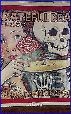 Grateful Dead Poster Skeletons From The Closet HUGE! (Vintage)