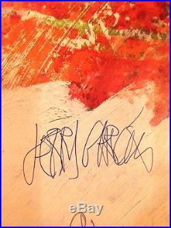 Grateful Dead Poster by Robert Rauschenberg signed Jerry Garcia & Bob Weir 1988