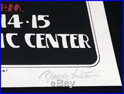 Grateful Dead Providence Rhode Island 1973 Poster Hand signed by Randy Tuten