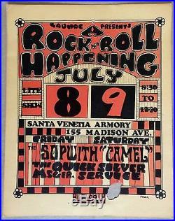 Grateful Dead QMS Santa Venetia Original 1966 Fillmore Era Concert Handbill RARE