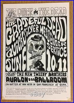 Grateful Dead Quicksilver Avalon 1966 2nd Concert Poster Wilson Fd12