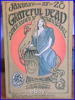 Grateful Dead Quicksilver Avalon Ballroom 1967 Poster FD-45-1