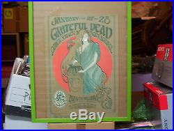 Grateful Dead Quicksilver Avalon Ballroom 1967 Poster Stanley Mouse No Pin-holes