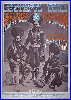 Grateful Dead Quicksilver Johnny Hammond Avalon Ballroom Vintage Poster 1967