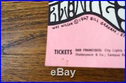 Grateful Dead Quicksilver The Fillmore 2/24-26/1967 Poster BG 51-1