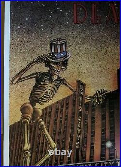 Grateful Dead Radio City Music Hall Vintage Poster New York City 1980 Pinup 80s