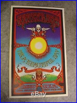 Grateful Dead Rick Griffin Aoxomoxoa Hawaii Poster Authorized 1982 2nd Printing