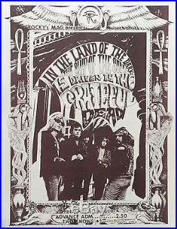 Grateful Dead Rick Griffin Marigold Fresno Fillmore-Era Concert Handbill Flyer