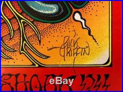 Grateful Dead Rick Griffin Signed Aoxomoxoa 1969 Avalon Concert Poster 2nd