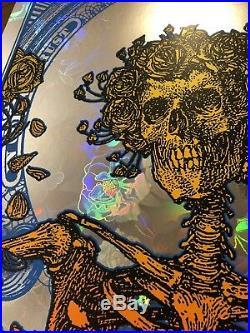 Grateful Dead Rose Foil Blunt Graffix In God We Trust Poster Berthe Skulls Print